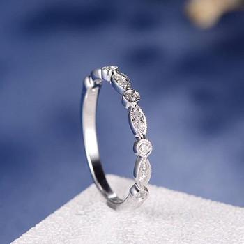 White Gold Half Eternity Diamond Wedding Band