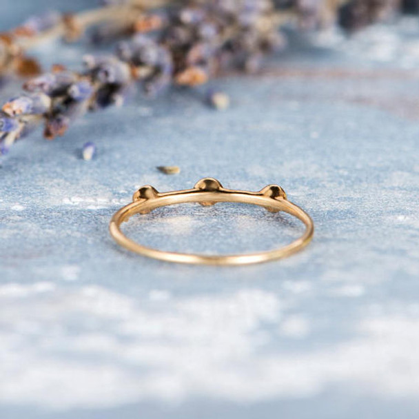 Unique Simple Diamond Stacking Wedding Ring