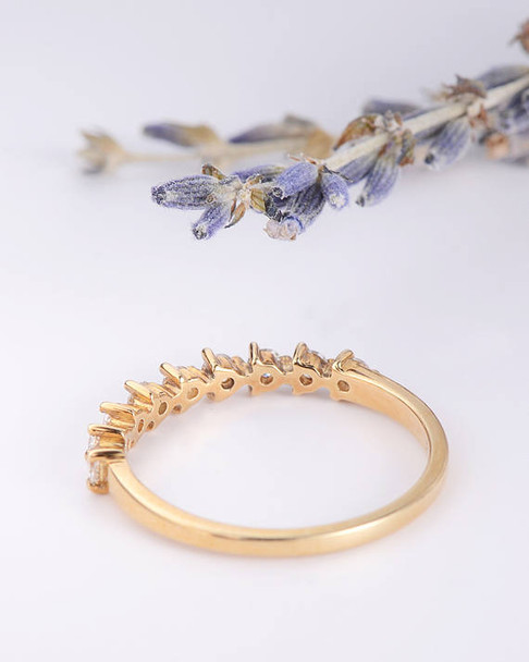 Pave Diamond Eternity Ring Wedding Band