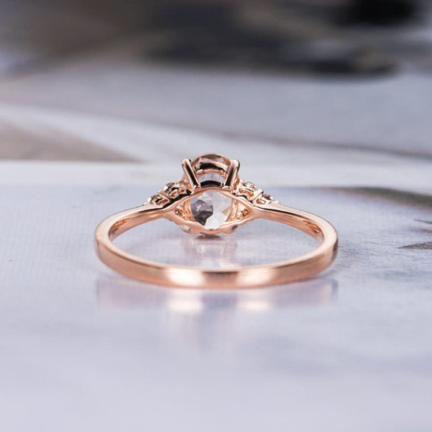 5*7mm Oval Cut Promise Bridal Morganite Ring
