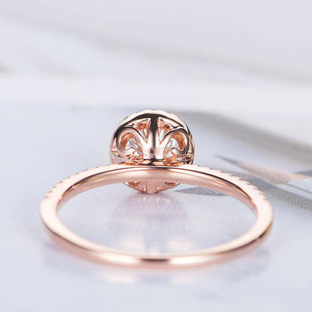 Halo Half Eternity Diamond Band 5mm round cut Moissanite  Ring