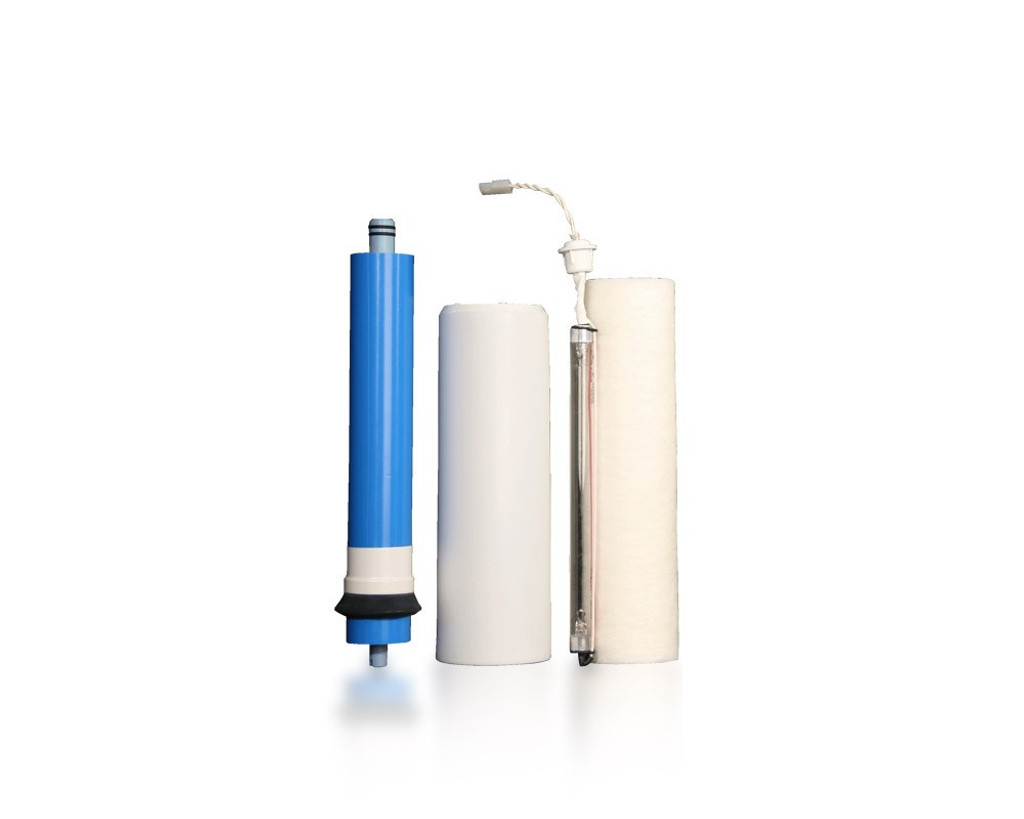 Filter Replacement Set: Three-Stage Reverse Osmosis System with UV (RU300C18 w/ UV) 2-Pin