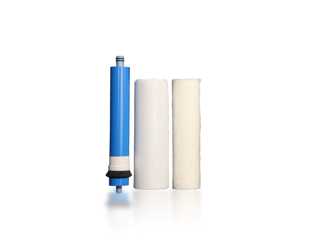 Filter Replacement Set: Five-Stage Reverse Osmosis System with UV Disinfection (RU500T35 w/ UV) 4-Pin UV
