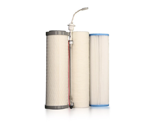 Complete Filter Set: UU350 2-Pin UV (White Cord) | Three-Stage Under Counter w/ UV