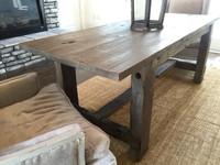 Reclaimed Wood Trestle Farm Table