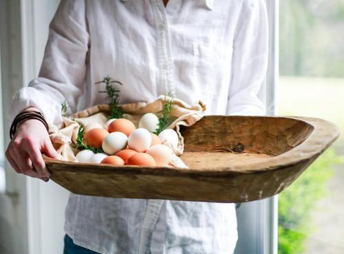 Hand Scraped Village Bowl