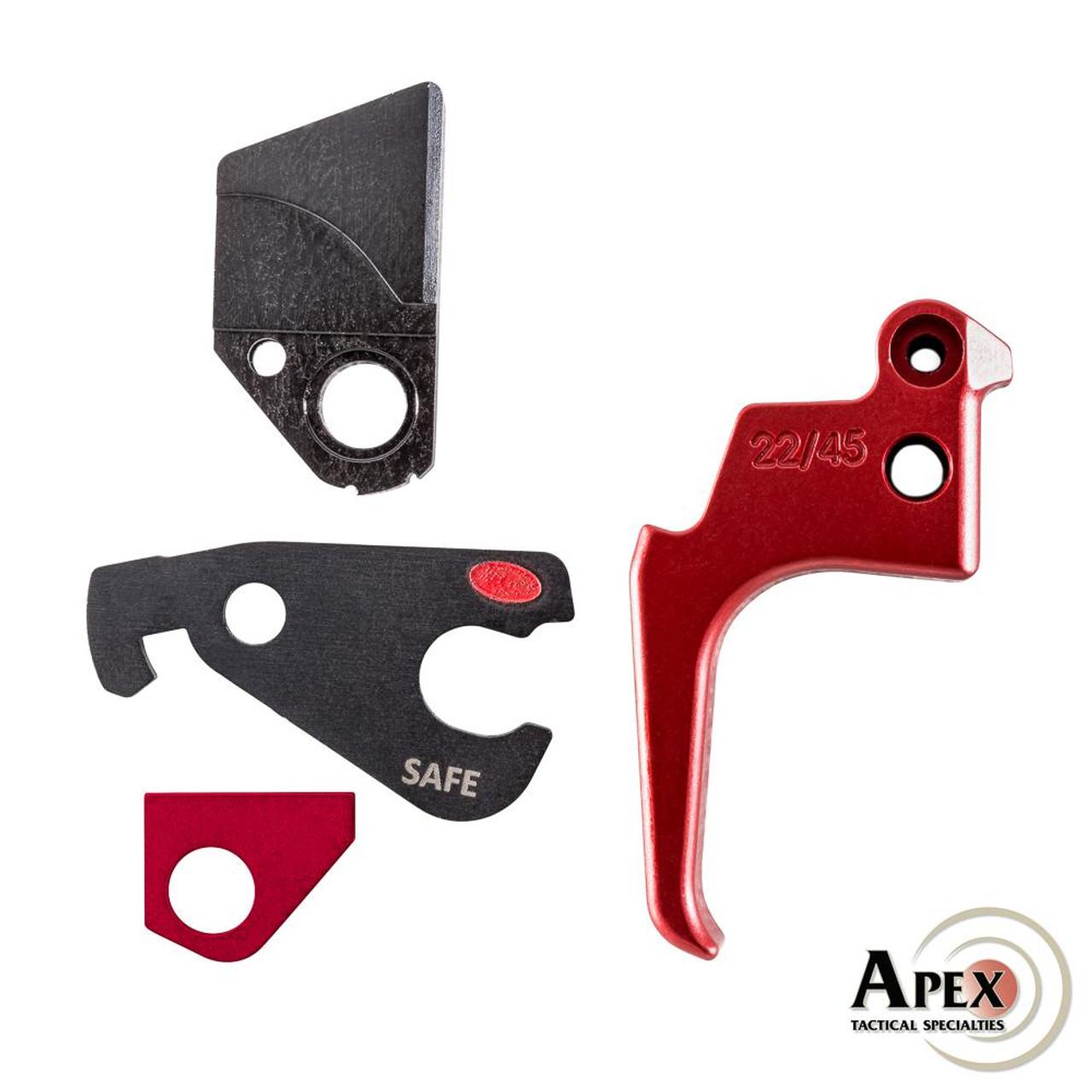 Apex Tactical Action Enhancement Kit for Ruger Mk IV 22/45 - Red