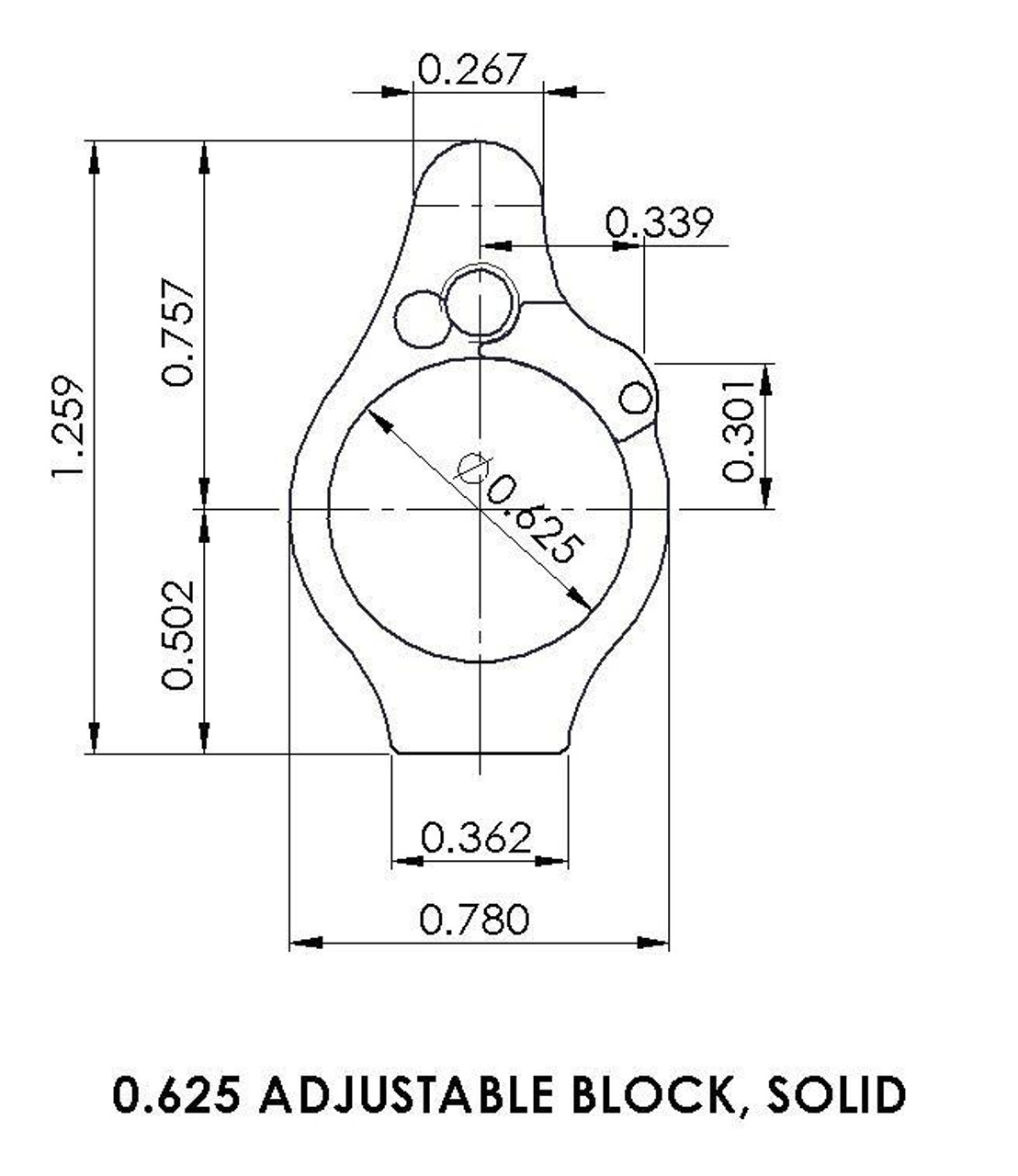 Superlative Arms Adjustable Gas Block Bleed Off - Solid, Melonited