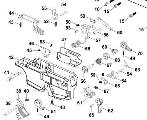 HB Industries CZ Scorpion EVO3 Trigger Pack Hardware Refresh Kit