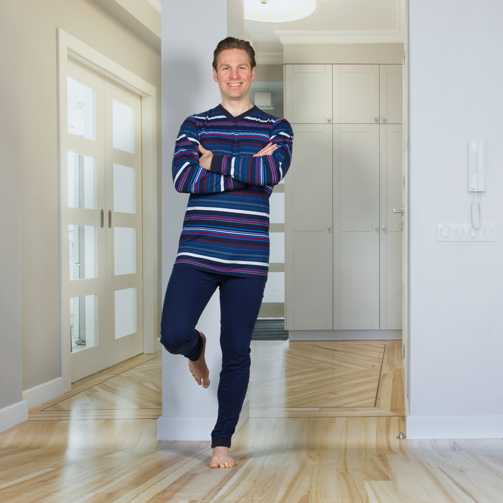 Men's Designer Jumpsuit with a Zipper-Back and Crotch, Long Legs, and Long Sleeves
