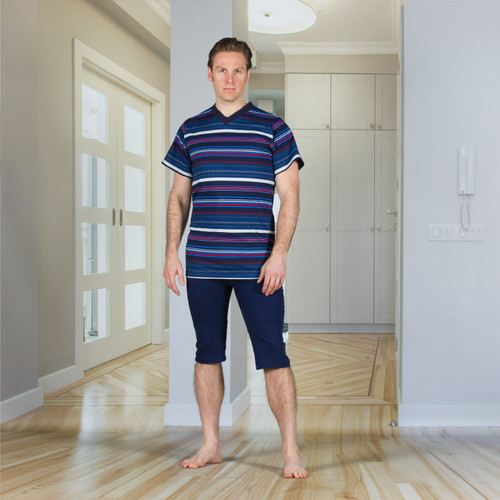 Men's Designer Jumpsuit with a Zipper-back, Short Legs, and Short Sleeves