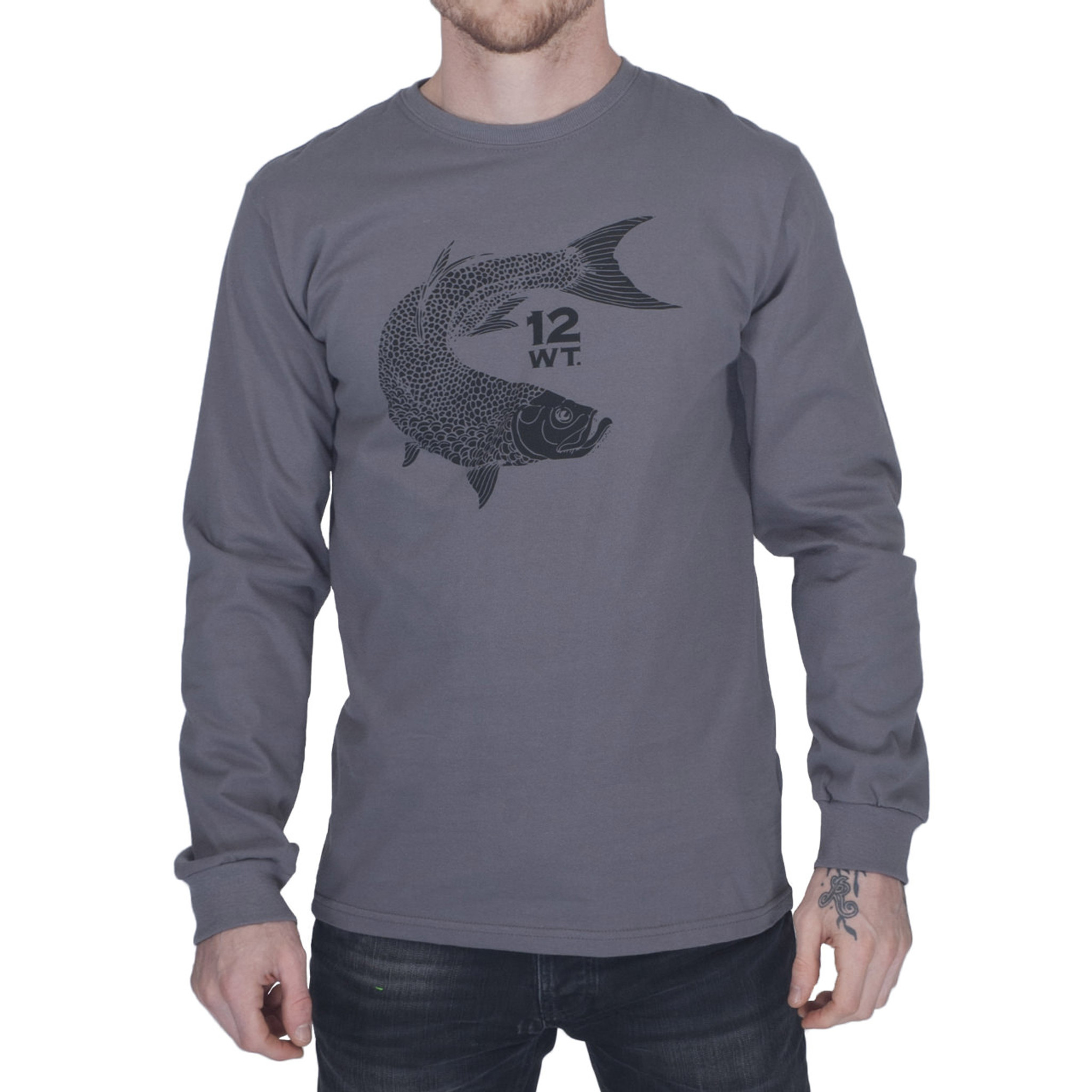 Mens long sleeve organic cotton t shirt with tarpon logo long sleeve t shirt tarpon logo nvjuhfo Images
