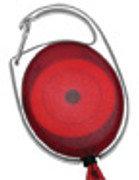 2120-7063 Carabineer Reel Badge Holder w/ Belt Clip - Translucent Red