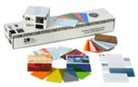 104523-130 Zebra color PVC card - red, 30 mil (500 cards)