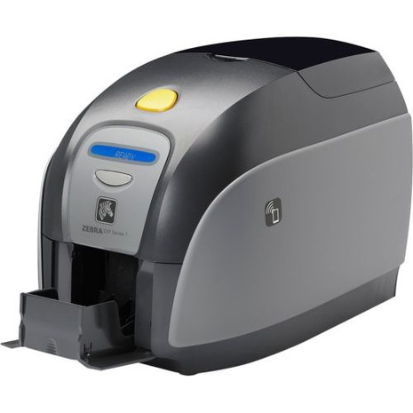 Z11-0M00G000US00 Zebra ZXP Series 1 Single-Sided Card Printer, USB, US Power Cord, Magnetic Encoder, Monochrome Media Starter Kit