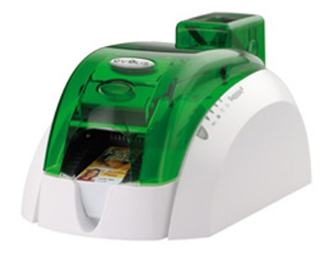 Pebble 4 Evolis Jungle Green Single-Sided ID Card Printer w/ Mag Encoder