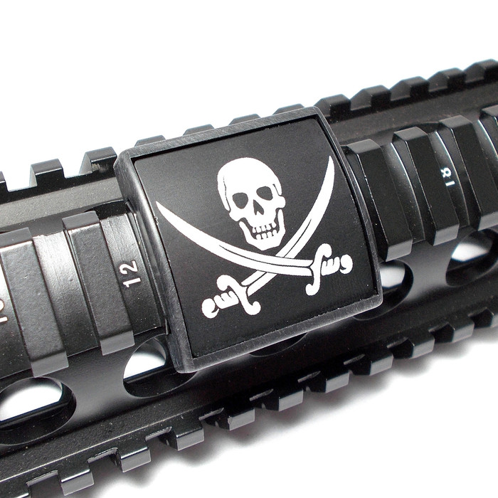 Skull And Crossed Swords Small Rail Cover