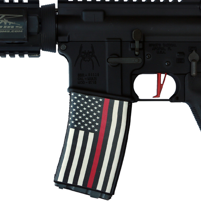 RED LINE US FLAG SOC