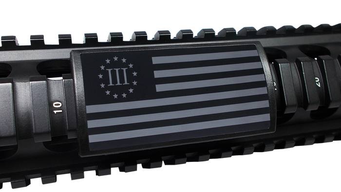 Three Percenter Flag Rail Cover