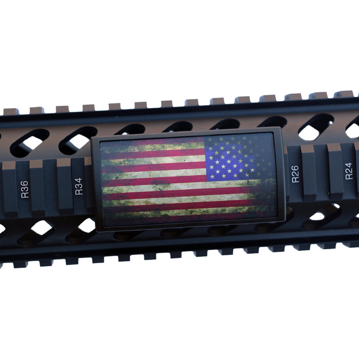 Battleworn US Flag Stars Right Rail Cover