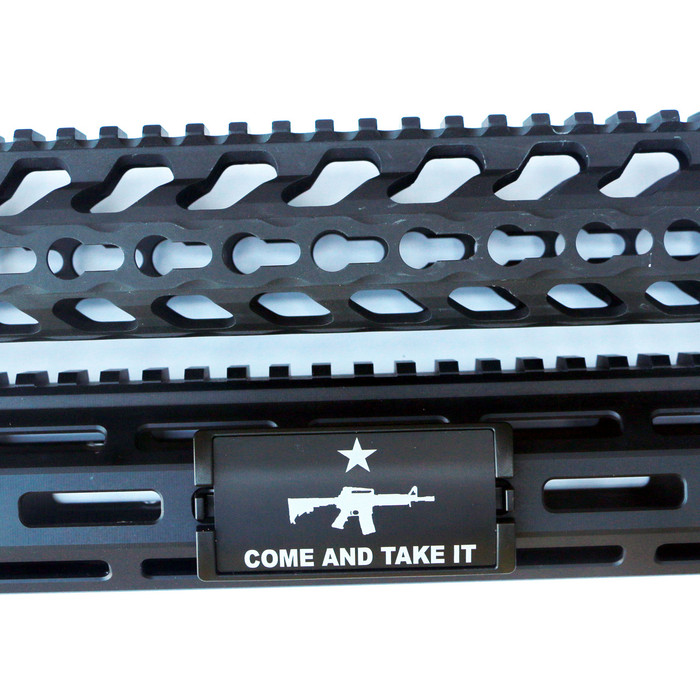 Come And Take It AR KeyLok Rail Cover - Black Retainer