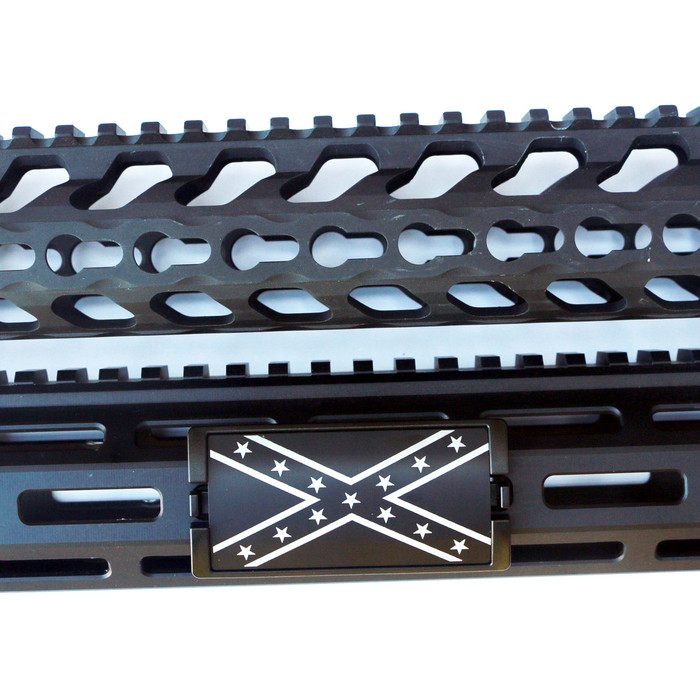 Confederate Flag KeyLok Rail Cover- Black Retainer