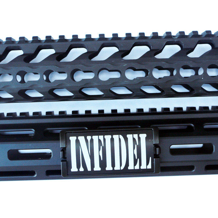 Infidel Caps KeyLok Rail Cover- Black Retainer