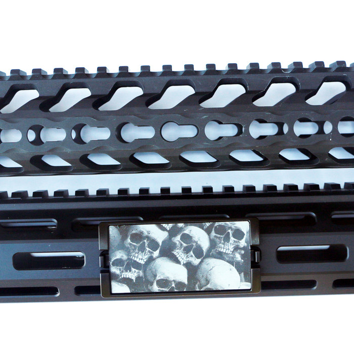 Skull Pile KeyLok Rail Cover- Black Retainer