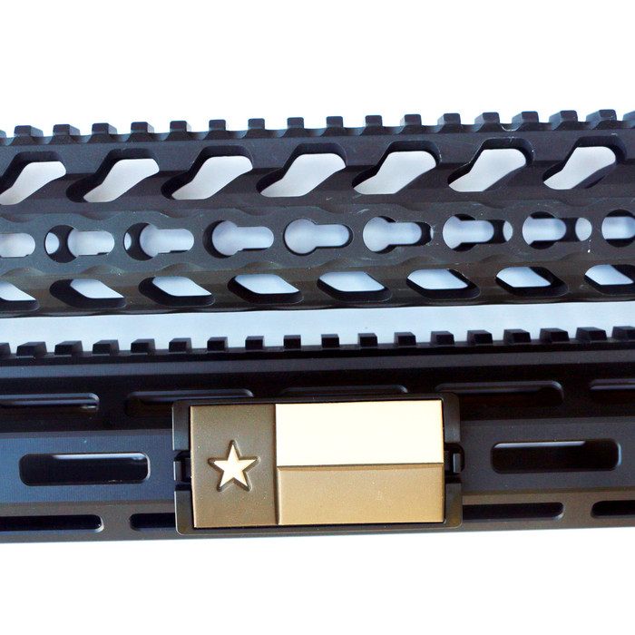 Tan Texas Flag KeyLok Rail Cover- Black Retainer