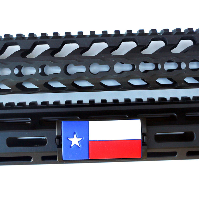 PVC Texas Flag KeyLok Rail Cover- Black Retainer