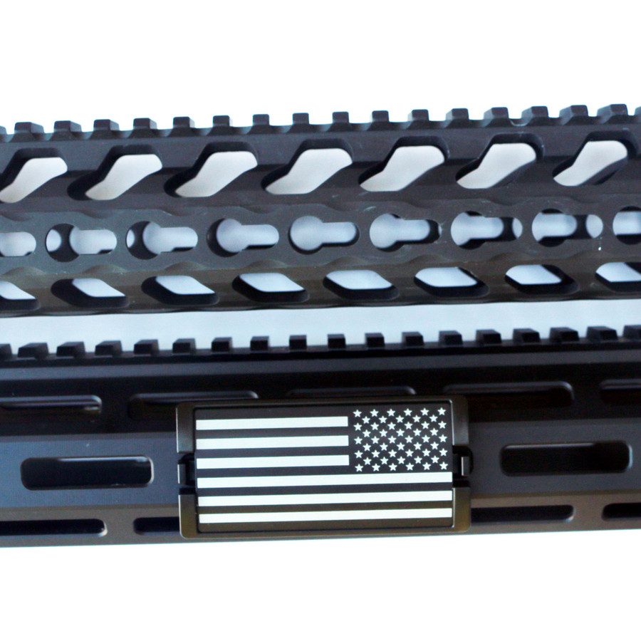 US Flag Laser Engraved Stars Right KeyLok Rail Cover- Black Retainer
