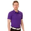 Funktion Golf Mens Short Sleeve Golf Shirt Purple Plain