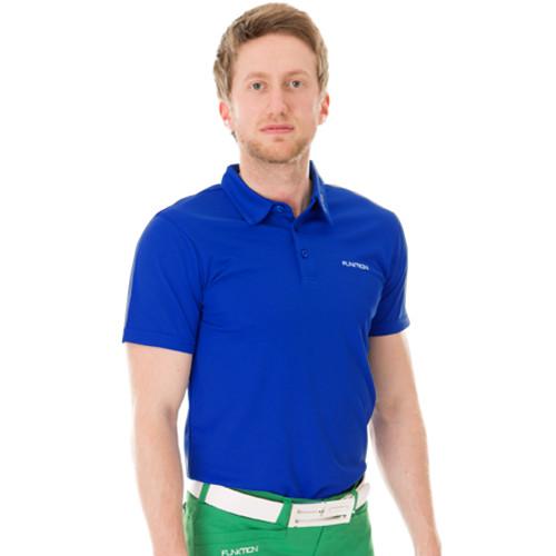 Funktion Golf Mens Short Sleeve Golf Shirt Electric Blue Plain