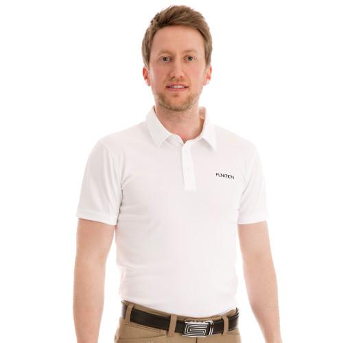 Funktion Golf Mens Short Sleeve Golf Shirt White Plain