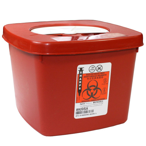 Sharps Container - Red 2 Qt