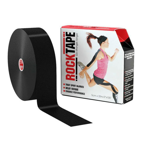 "RockTape 2""x105 Feet Roll Black"