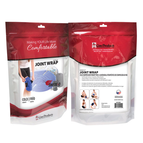 Swede-O Joint Wrap Cold Compression Pack - Back and Front