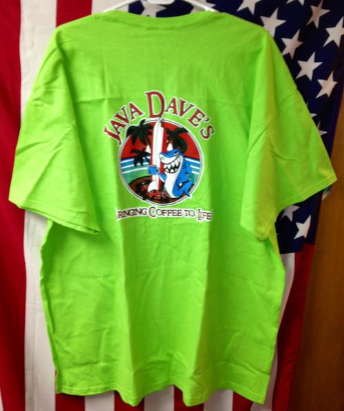 """Lime Green """"Shark"""" T-Shirt"""