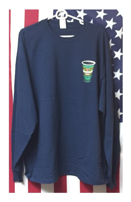 """Long Sleeve Java Dave's """"To Go Cup"""" T-Shirt Front"""