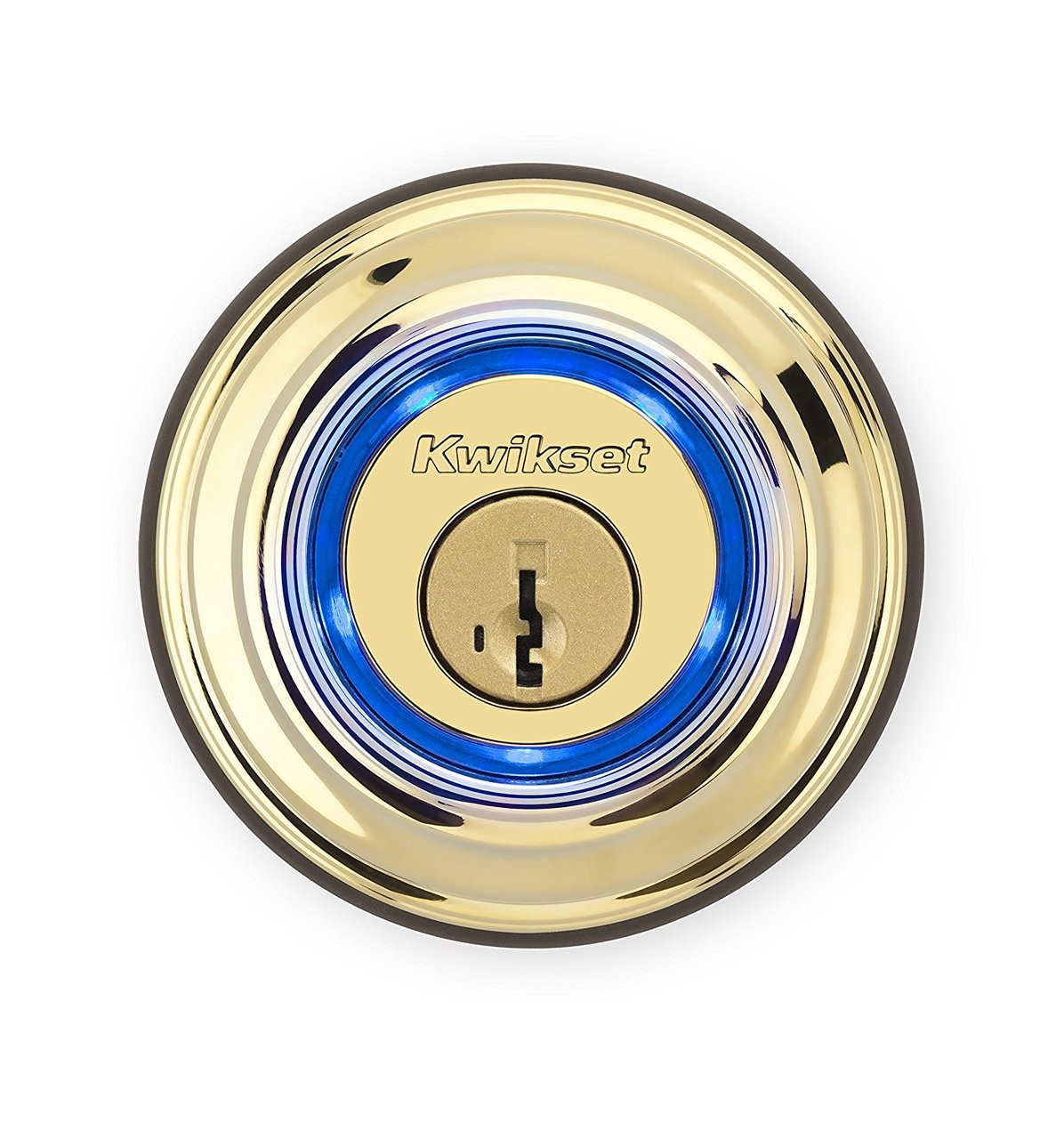 Kwikset KEVO Bluetooth Touch To Open Electronic Deadbolt 2nd Gen L03 Lifetime Bright Brass