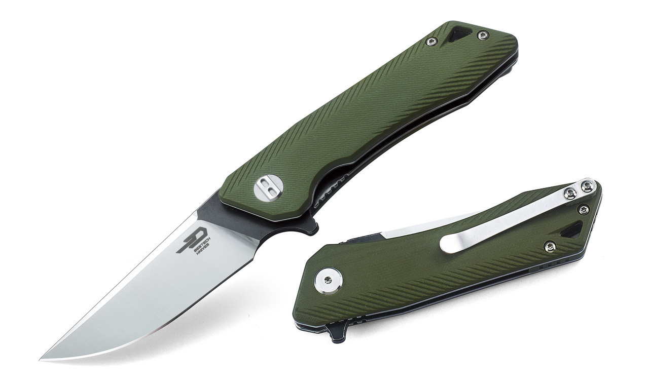 Bestech Knives Thorn Green G10 12C27 Steel Pocket Folder Knife