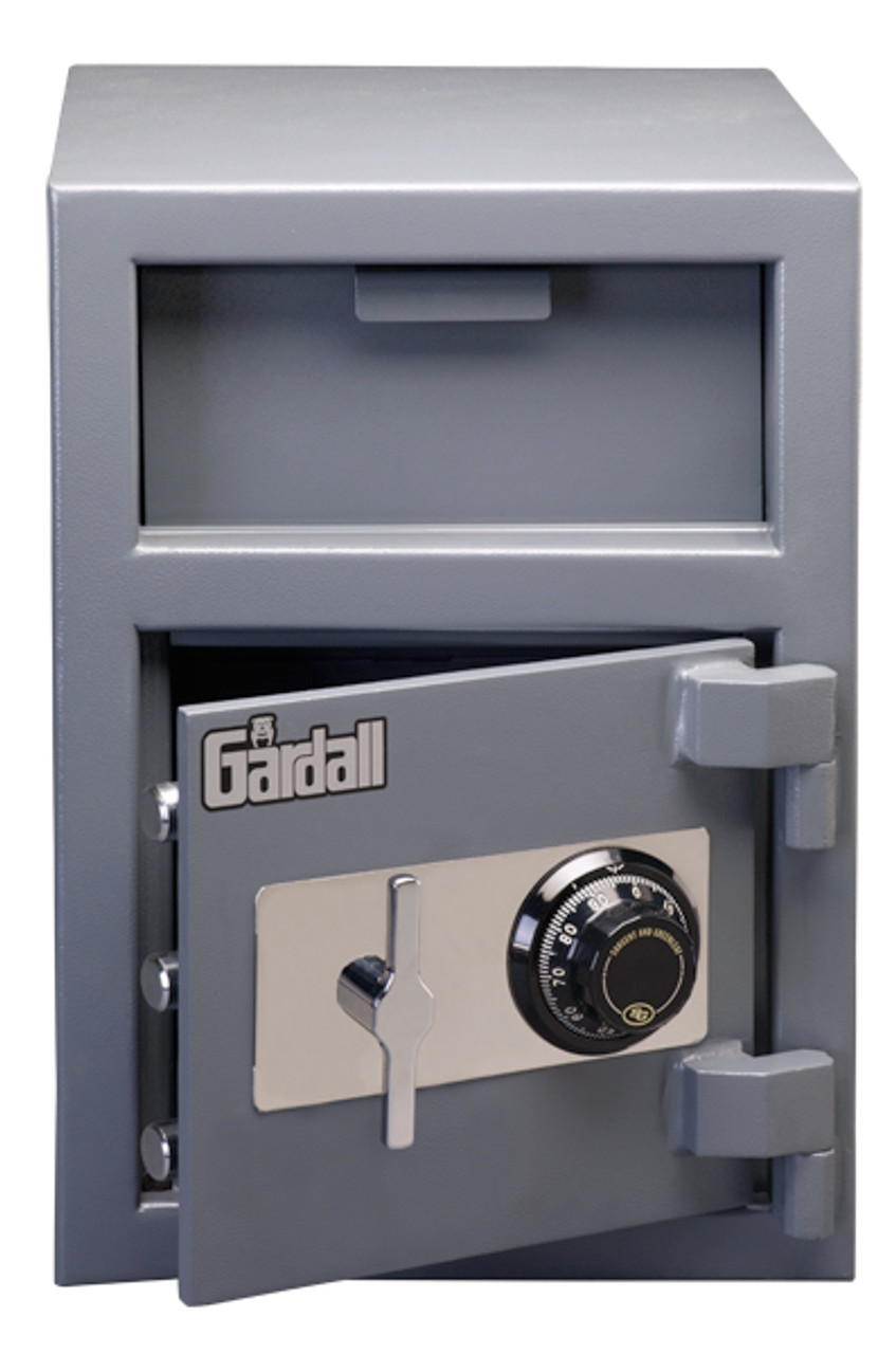 Gardall Front Load Depository LCF2014 shown with mechanical dial lock
