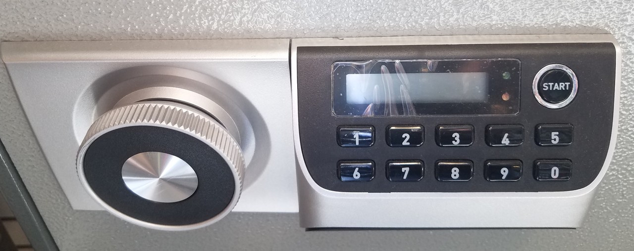 This is what the electronic lock option will look like.