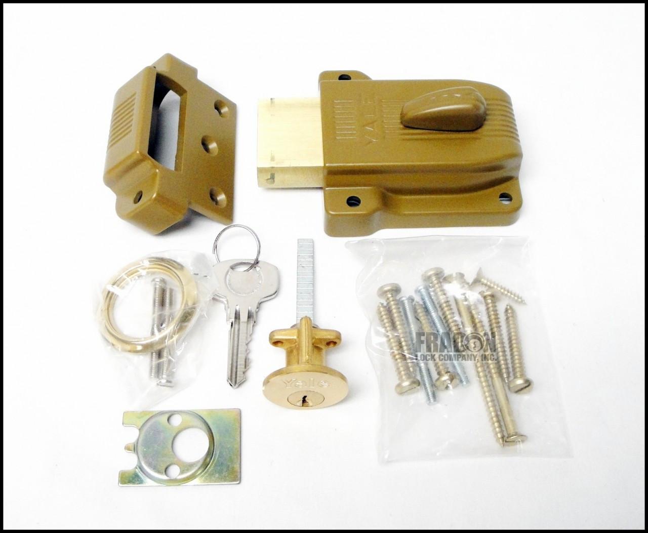 Yale 112 Heavy Duty Rim Lock Deadbolt Standard Angle