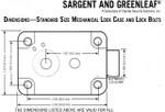 Sargent & Greenleaf Standard Lock Footprint