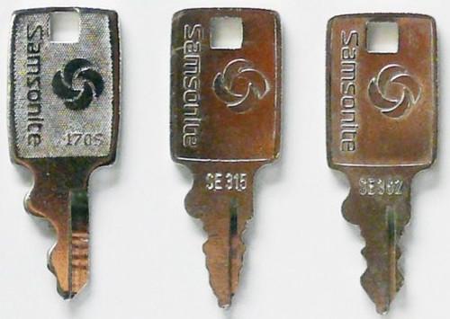 Samsonite Luggage Keys Set Of 2