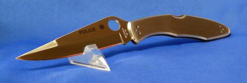 Spyderco C07P Police Knife Stainless Plain Edge