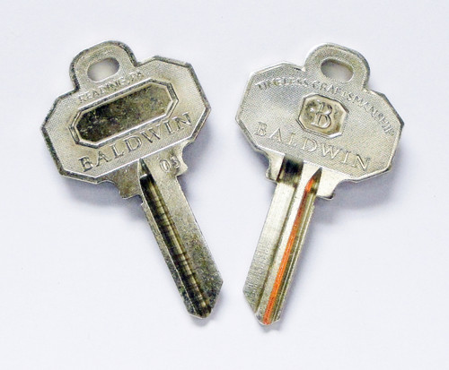 One Pair Baldwin Key Blank 5 Pin