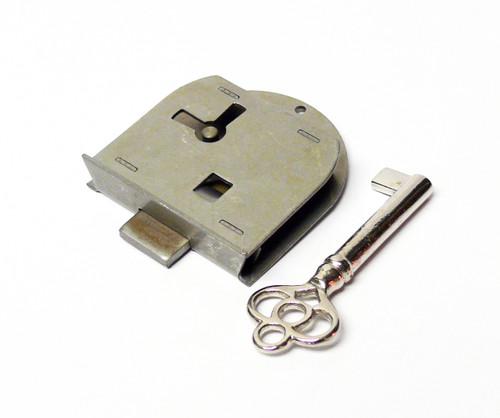 Steel Half Mortise Skeleton Key Furniture Lock Left Hand