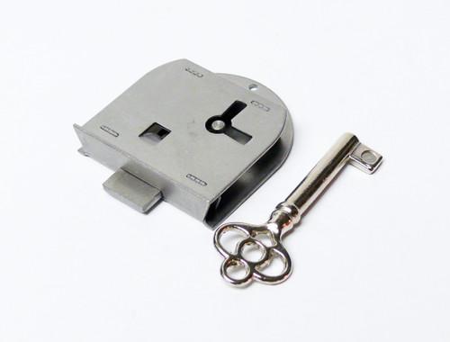 Steel Half Mortise Skeleton Key Furniture Lock Right Hand